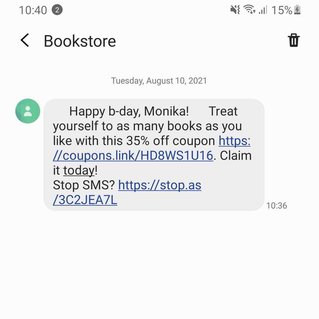 Text message not displaying emojis using GSM7 encoding.